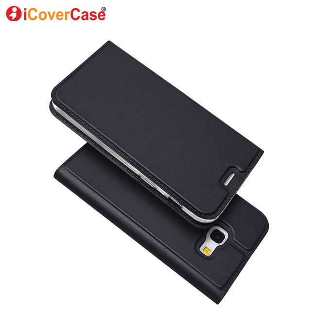 finest selection 8362c a7e13 US $6.99 30% OFF|Leather cover case For Samsung Galaxy A5 2017 Case Flip  cover cases For Samsung Galaxy A3 A5 A7 2017 A8+ A8 2018 Leather Case-in  Flip ...