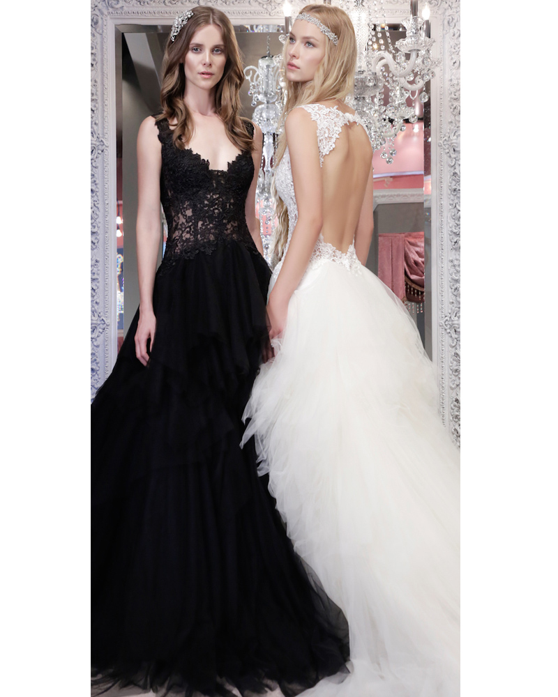 Vintage Lace Cap Sleeves Tulle Princess Wedding Dresses: Applique Lace Black Wedding Dresses Cap Sleeve Open Back