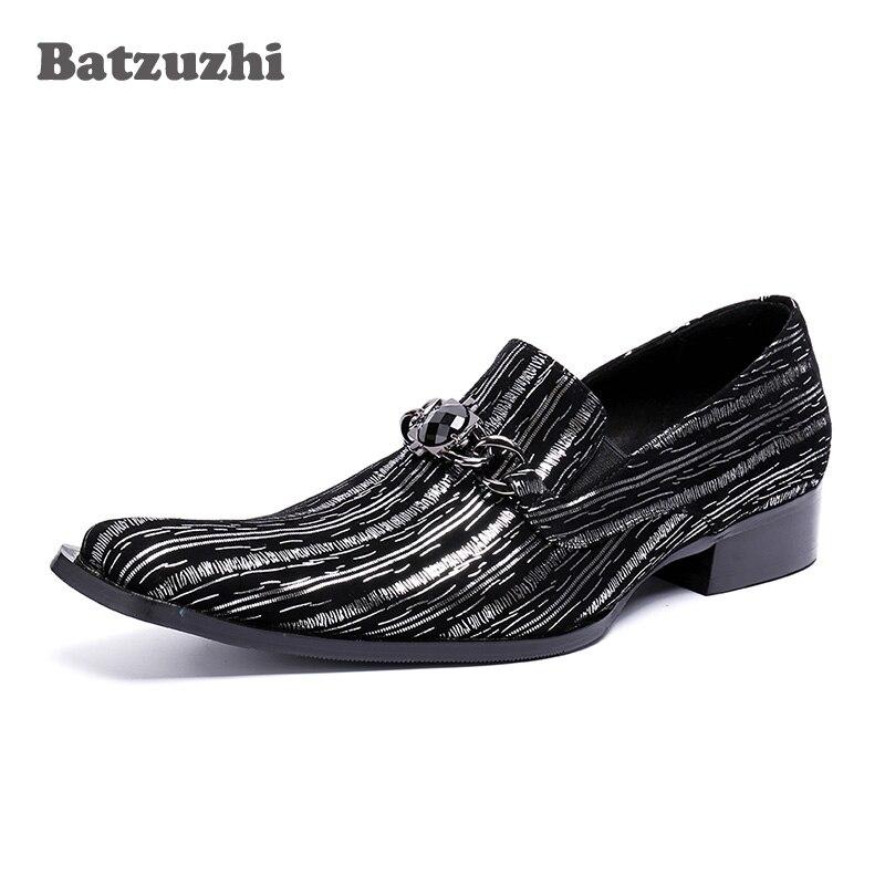 Y Batzuzhi Del Dedo Partido Negro Pie Zapatos Negro De Hombres La Cuadrados  azul Vestido Cuero Moda Negocio Lujo ... 6b8b0eb1a5c