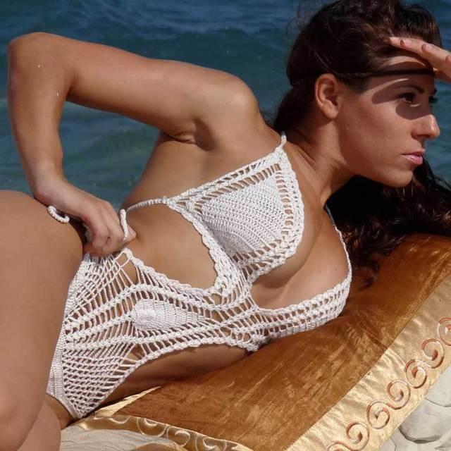 2016 супер секси выдалбливают крючком комплект бикини пляж купальники цвет трикотажные женщины вязать купальник треугольник лучших девушка купальник