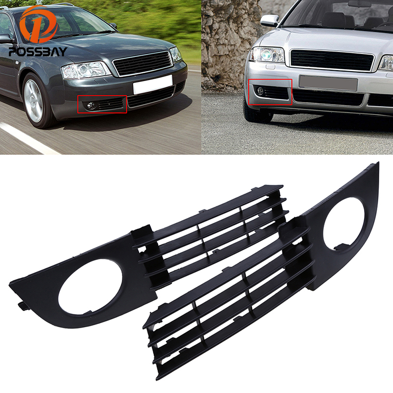 POSSBAY Car Front Bumper Lower Grille Grill Coche Fog