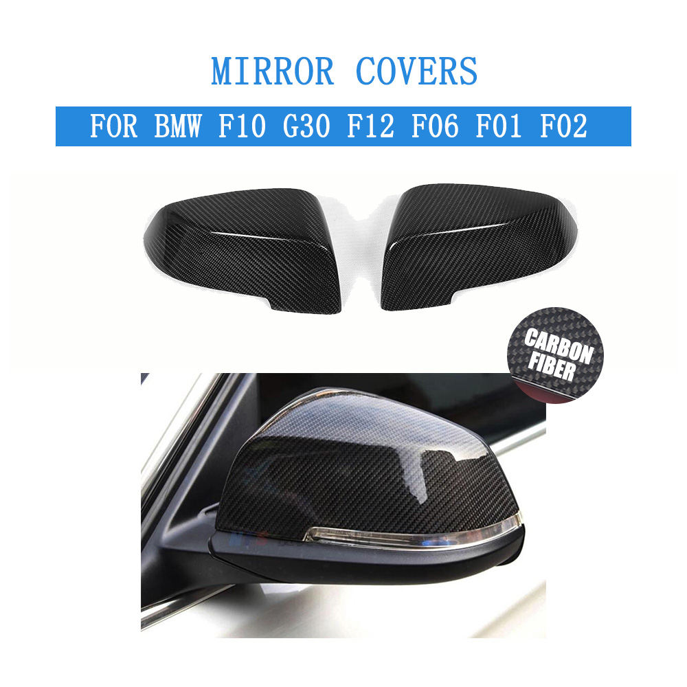 Carbon Fiber Replacement Type Side Rearview Mirror Covers Caps For BMW F10 14-16 G30 2017 F12 F06 2014-2016 F01 F02 2013-2015 f10 side wing rearview mirror cover caps for bmw sedan 11 13 carbon fiber