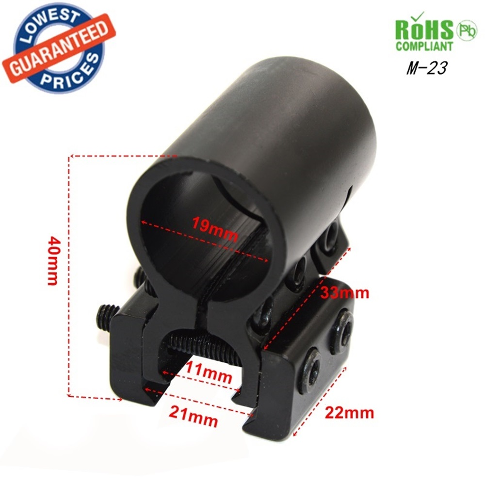 25.4mm//19mm Dual Rings Sight Scope Rifle 20mm Rail Mount Laser Torch Outdoor Use