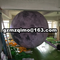 Air sealed PVC inflatable moon balloon moon sphere with LED lighting hanging inflatable moon ball for decoration PVC earth