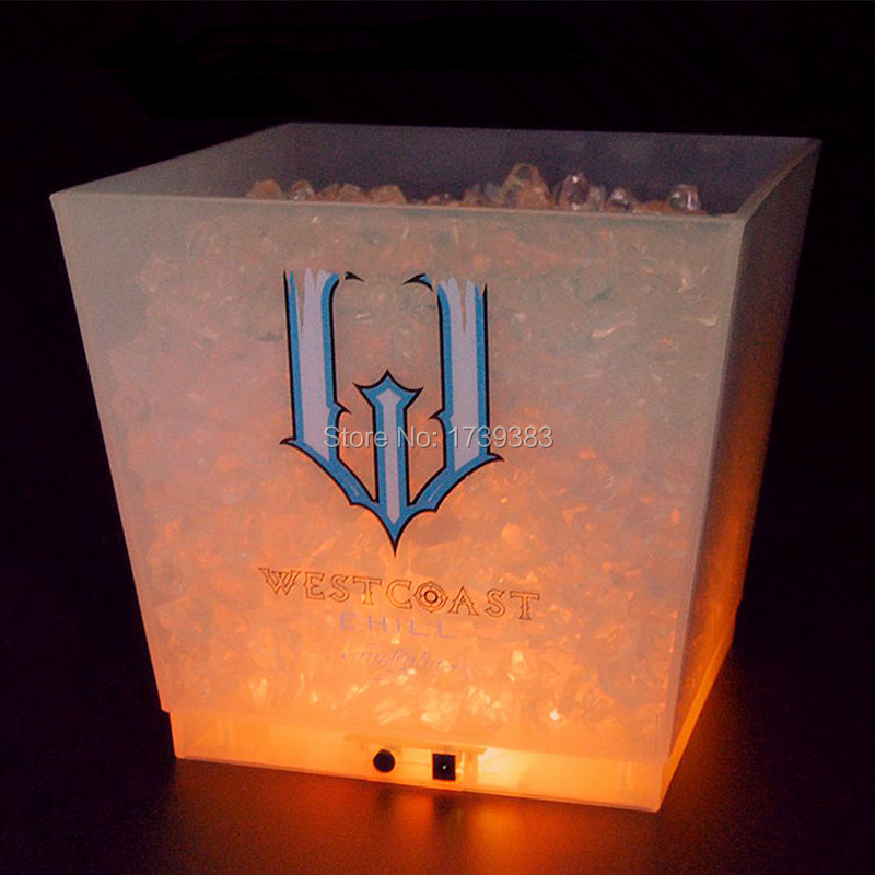 large capacity 12L cube rechargeable led ice bucket 6