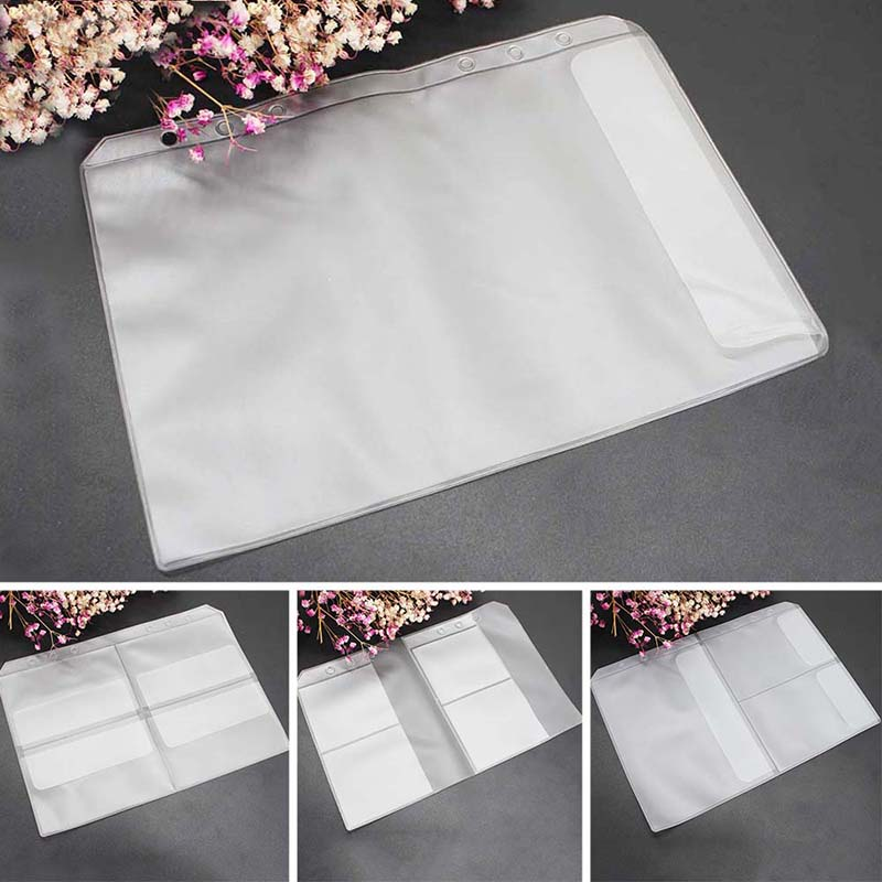 Transparent Books Cover 10 Sheets 6 Hole Binder Cover