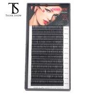 Thinkshow 8pcs/lot B/C/D Curl Korea Sik Mink Lash 3D Russia Volume Individual Eyelash Extension Thick Makeup Charming Lashes