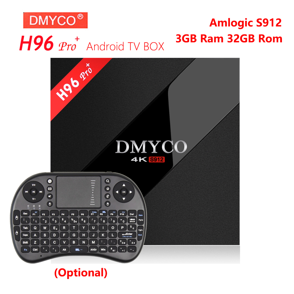 H96 PRO Plus Smart TV Box Amlogic S912 Octa Core GPU 3GB RAM 32G ROM Android