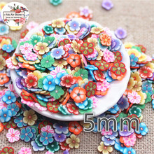 1000pcs 5mm mix color flower slince polymer clay craft nail Art Supply Decoration Charm Craft