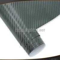 Big Texture 3D carbon fiber vinyl film air bubble free quality 1.52*28Msize