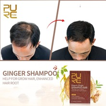Anti-hair Loss Hair Shampoo Organic Handmade Cold Processed Ginger Bar And Natural No Chemicals Preservatives