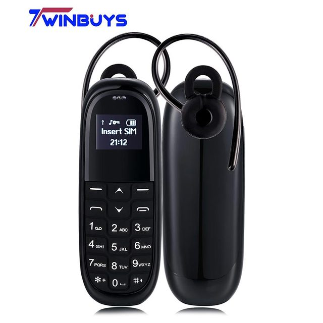 AEKU KK1 Mini Cell Phones wireless Headphones bluebooth handsfree Bluetooth Dialer Magic Voice change Kids children Mobile Phone
