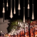 EU Plug 50CM Meteor Shower Rain Tubes LED Christmas Lights Garden Party Wedding Led Xmas Decoration Fairy String Lights R20