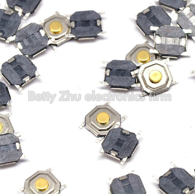 500PCS SMD SWITCH 5.2mm x 5.2mm x 1.5Tact Switch NEW GOOD QUALITY