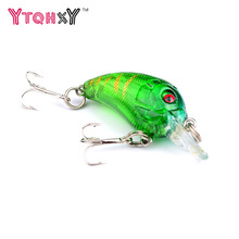 Купить с кэшбэком 1Pcs 4.5cm 4.2g Crankbait Fishing wobblers Iscas Artifical Fishing Lures Hard Bait Crank Bait Floating Lure WQ413