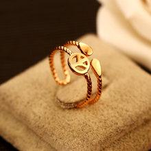 Кольцо с надписью love peace простое регулируемое модное кольцо