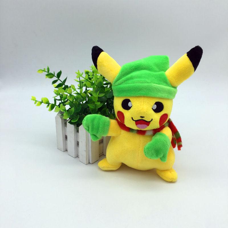 Nya 20cm Cosplay Pikachu Plush Leksaker för barn Pikachu Fyllda Djur Tecknad Karaktär Baby / Barn Plysch Toy Julklapp Toy