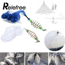 Relefree Mesh Fishing Bait Cast Net Kit Cheap Practical New Version Explosion Lead Jig Head Hook Lures Portable Accessories