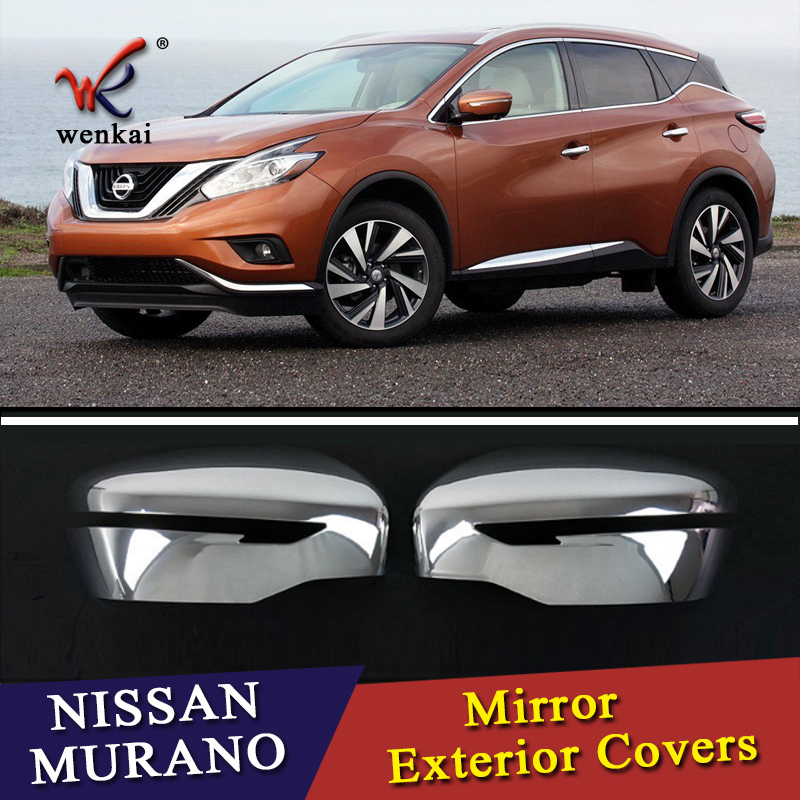 For Nissan Murano Z52 2015 2016 2017 Chrome Door Mirror Cover Trim Car Styling Accessories for suzuki sx4 s cross 2013 2014 automobile chrome rear door trunk lid cover trim car styling stickers accessories