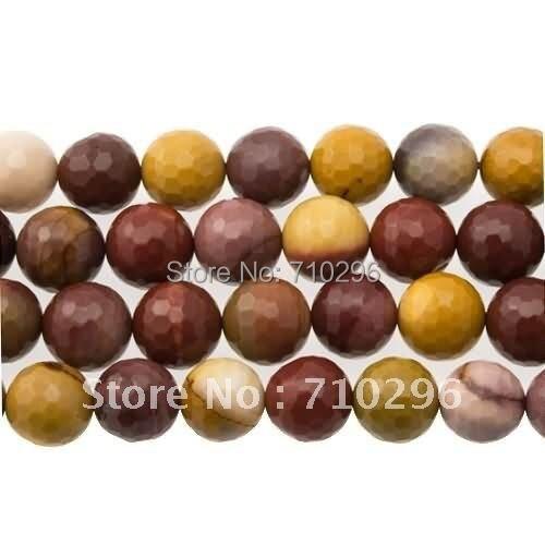 Естественный муконит 10 мм круглый гранёный драгоценный камень свободные бусины 40 см/струна