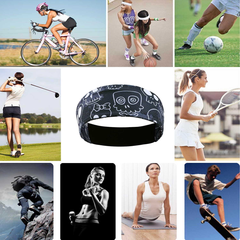 Sportowe na świeżym powietrzu rower Fitness z pałąkiem na głowę jazda na rowerze do biegania Jogging tenis joga siłownia opaska chustka na głowę opaska do włosów mężczyźni kobiety dziewczyna