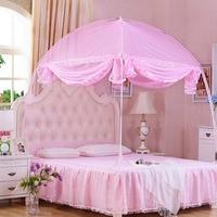 Üç kapıyı açmak moğolistan cibinlik şifreleme kraliçe boyutu gölgelik yatak net pembe prenses yatak gölgelik