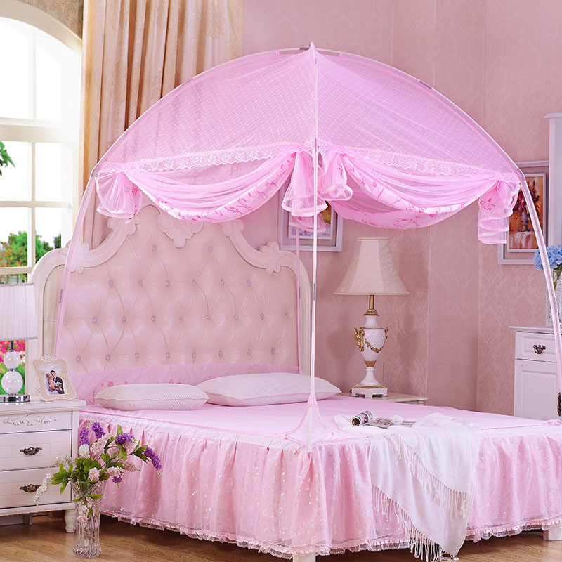 three open the door mongolia mosquito net encryption queen size canopy bed net pink princess bed canopy-in Mosquito Net from Home u0026 Garden on Aliexpress.com ... & three open the door mongolia mosquito net encryption queen size ...