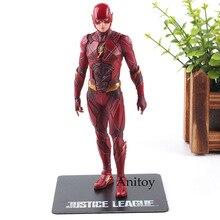 Justice League The Flash Cyborg Aquaman Wonder Woman Batman Superman Statue ARTFX Action Figures Collection Model Toy 17-18cm