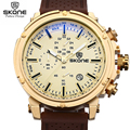 SKONE Top Brand Waterproof Chronograph Sport Watches Men Date Shock Resistant Quartz-watch Casual Silicone Watch relogios 2016