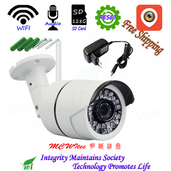 Waterproof XM Cam Audio Reset WIFI IPC 720P 1080P Security Camera ONVIF IP Night view IR CCTV 128G SD Card Camera  Motion Alarm
