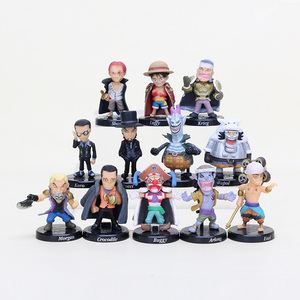 12pcs/set Q Version One Piece Figure Toy luffy Shanks buggy enel moriab rucci Action Figure PVC Model Toy Dolls 5cm(China)