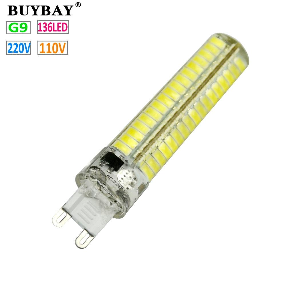 new arrival dimmable g9 led bulb smd mini g9 led lamp 110v220v 136leds
