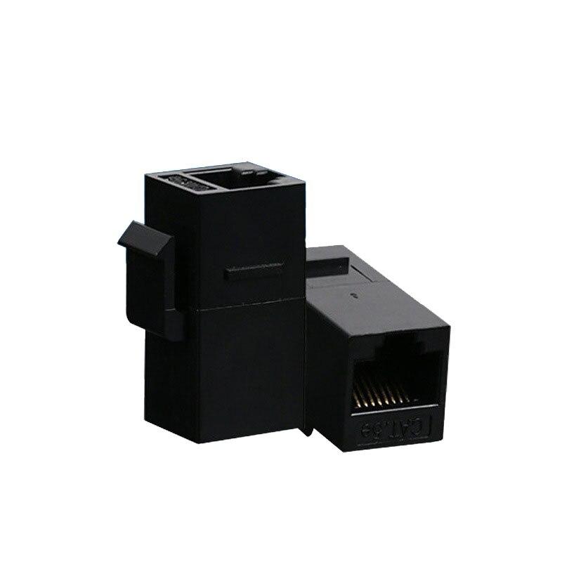 RJ45 Cat5e Female to Female Coupler UTP Ethernet Keystone Jack Black