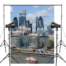 150x220cm Vibrant Commercial City Photography Background British Modern Logo Architecture Backdrop Studio Background Props цена