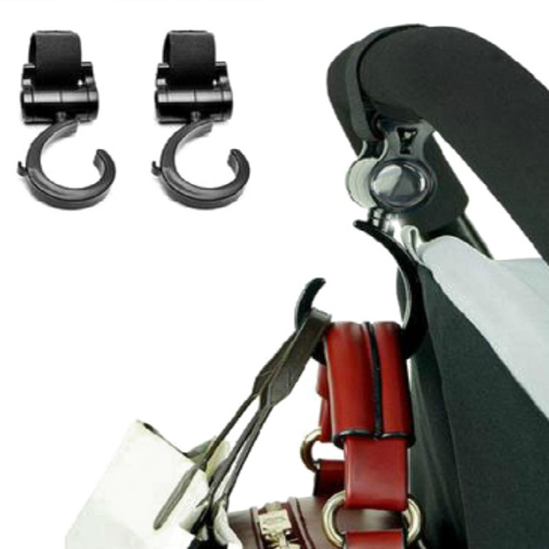 2PCS Baby Stroller Accessories 360 Cart Trolley Bag Stroller Hook Multifunction Baby Hanger Pushchair Hanging Carrier Holder