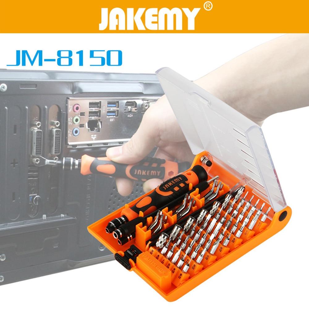 JAKEMY JM-8150 nešiojamojo kompiuterio atsuktuvų rinkinys, skirtas profesionalių taisymo įrankių rinkiniams, skirtiems mobiliųjų telefonų kompiuteriams, elektroninis modelio pasidaryk pats