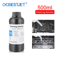 500ML UV Cleaning Liquid For Epson Roland Mimaki UV Modified Printer Cleaning Fluid Printhead Cleaning Solution UV Ink Cleaner