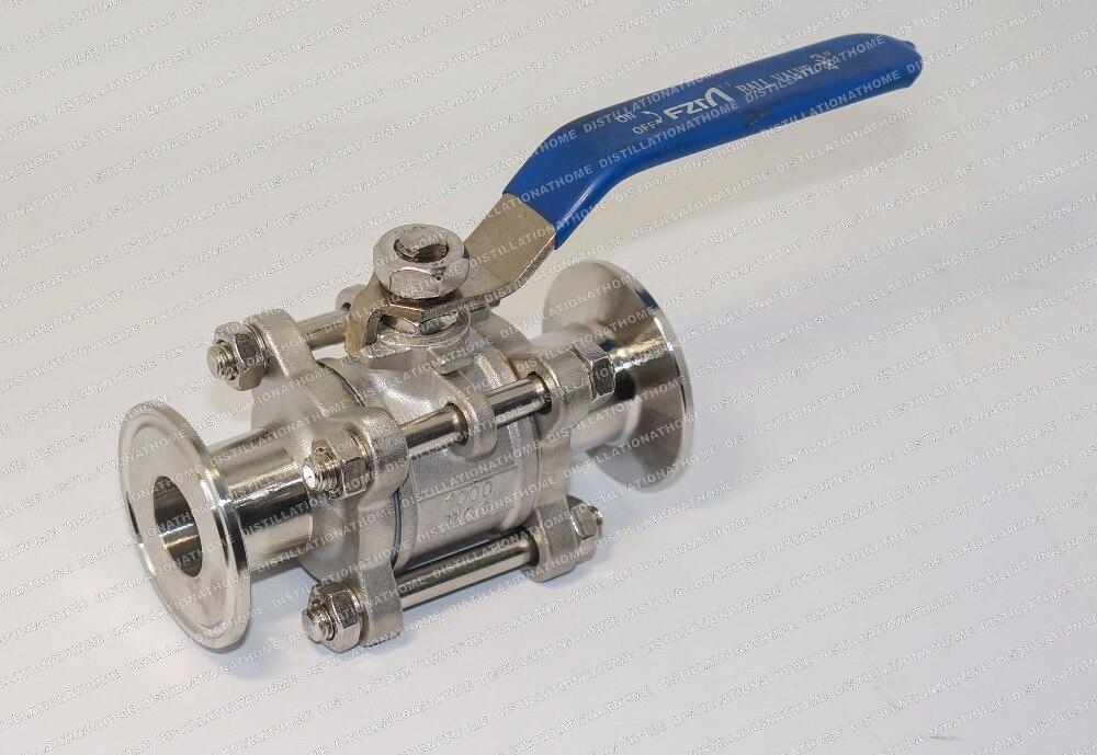 Ball valve sunitary separable SS304 diameter 3 4 20mm OD50 5