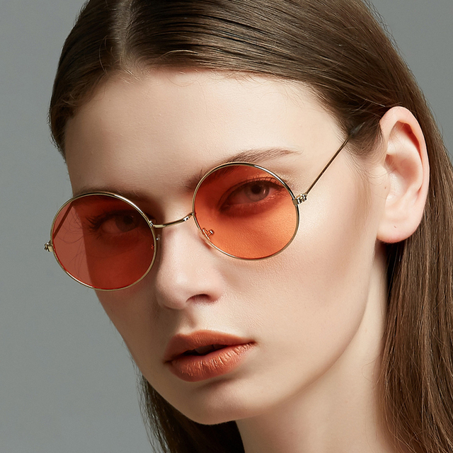 b53cb59556  EL Malus Retro UV400 Round Frame Sunglasses Men Women Brand Designer  Driving Sun Glasses