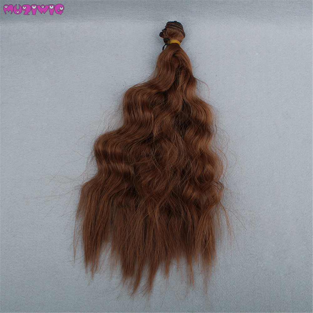 25cm Loose Curly Hair Wefts for BJD Blyth American Dolls DIY Accessories in Dolls Accessories from Toys Hobbies