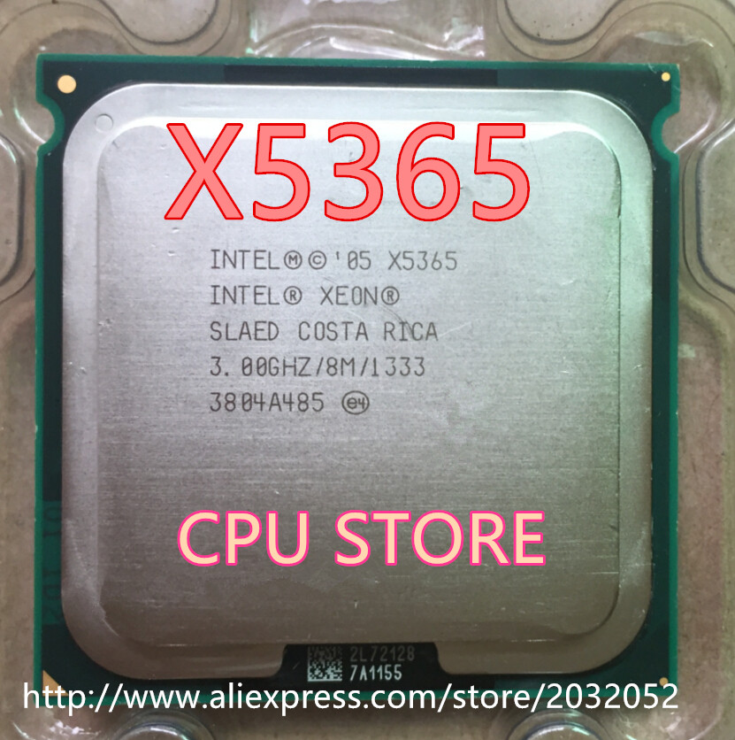 Original Intel Xeon X5365 3.0GHz/8M/1333 Processor close to LGA771 Core 2 Quad Q6700 CPU (Give Two 771 to 775 Adapters)