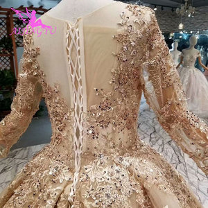 Image 5 - AIJINGYU Wedding Guest Dresses Muslim Gowns In Dubai Cape Long Korean engagement Luxury Crystal Gown Wedding Grown
