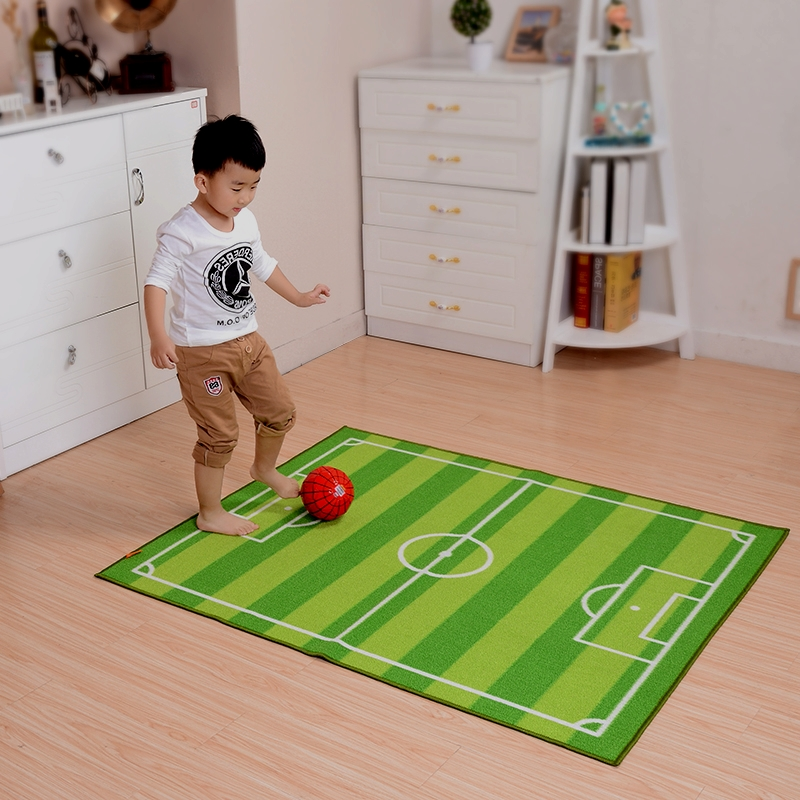 Green Carpet Kids Room Creative Football Field Rug Soft Carpet Bedroom Children Play Game Floor Mat Sofa Coffee Table Rugs