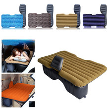 waterproof hot sale Universal Car Travel Inflatable Mattress Car Inflatable Bed Air Bed Cushion Thickening Multicolor HWC(China)