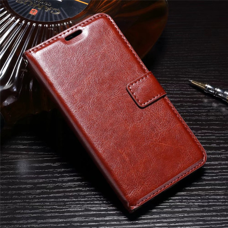FLIP COVER WALLET Asus Zenfone 6 6.0 Inch A600CG Leather Case Kulit Dompet Casing Retro Vintage Premium Kick Stand Magnetic Lock