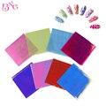 8 unids/lote Beauty Nail Art Láminas De Uñas de Cristal Brillante Láser De Láminas Nail Art Sticker Pegatinas de Papel de Color Caramelo Precioso