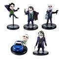 5 pcs Lote Batman DC The Dark Knight The Joker Mini Ação PVC forma Coleção Brinquedos Boneca DC004083