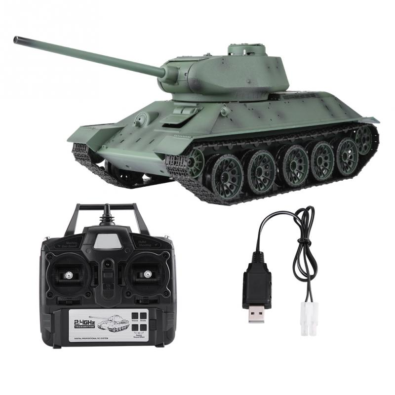 Heng Long 1 16 Simulation RC Tank 2 4GHz Frequency Remote Control Tank Model Turret Rotation