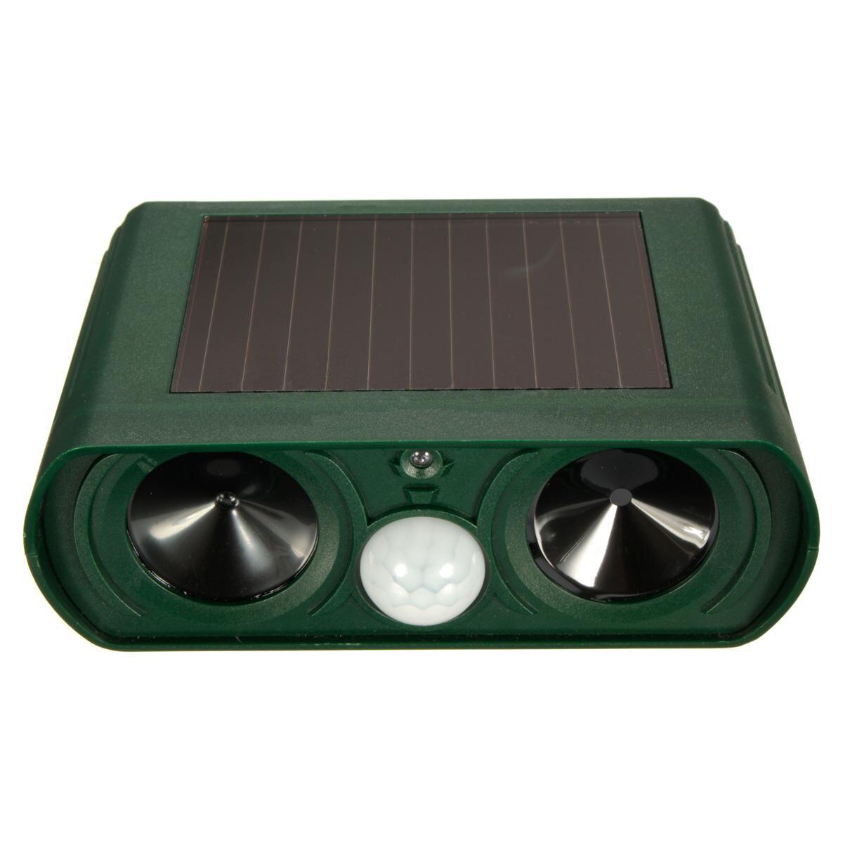 5Set Sale 1Pcs Dual Ultra Sonic Solar Power Pest Animal Repeller Cat Dog Fox Deterrent