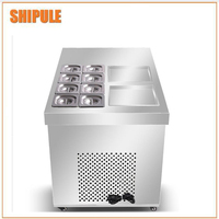 Таиланд коммерческих жареное мороженое рулон/машина для жареного мороженого рулонов/Мороженое холодная плита